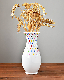 Dekorácie - Barvy deště - porcelánová váza (velká) - 10730668_
