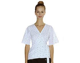 Košele - Lea - zavinovacia blúzka, bavlna OekoTex  - 10728503_