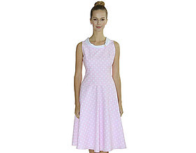 Šaty - Audrey - romantické šaty, bavlna OekoTex - 10728544_