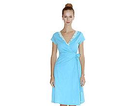Šaty - Rebecca - zavinovacie šaty, bio bavlna - 10728570_