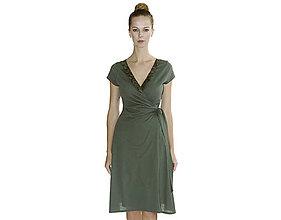 Šaty - Rebecca - zavinovacie šaty, bio bavlna - 10728574_