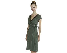 Šaty - Rebecca - zavinovacie šaty, bio bavlna - 10728575_