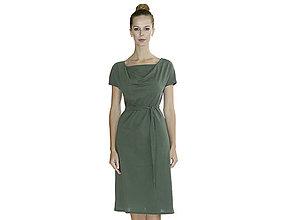 Šaty - Alex - šaty s opaskom, bio bavlna - 10728579_