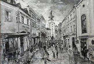 Obrazy - Stratené farby starého mesta - 10729852_