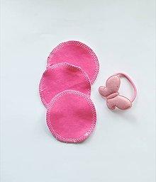 Úžitkový textil - Čistiace tampóny mix (ružová) - 10727783_