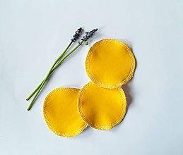 Úžitkový textil - Čistiace tampóny mix (žltá) - 10727784_