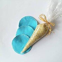Úžitkový textil - Čistiace tampóny mix (modrá) - 10727788_