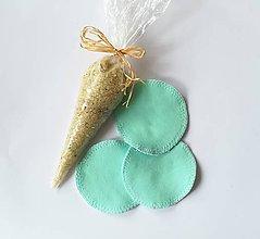 Úžitkový textil - Čistiace tampóny mix (mätová) - 10727809_