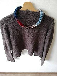 Náhrdelníky - Háčkovaný náhrdelník - špirálový (Pestrofarebná) - 10727798_