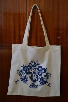 Nákupné tašky - modrý ľudový motív - 10727254_