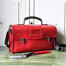Veľké tašky - Retro kožená brašňa na