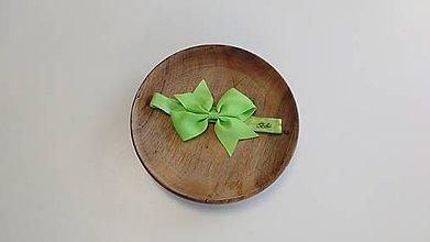 Detské doplnky - Zelená čelenka pre dievčatko - 10728424_