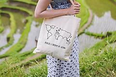 """Nákupné tašky - textilná taška """"mapa""""  - 10729856_"""