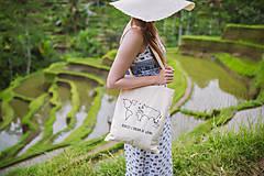 """Nákupné tašky - textilná taška """"mapa""""  - 10729868_"""