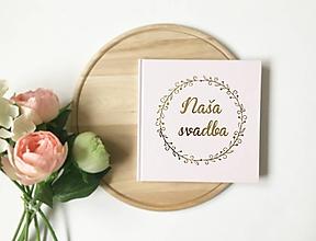 Papiernictvo - Svadobná kniha hostí Bubble Wreath - 10728816_