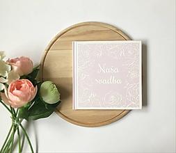 Papiernictvo - Ružová svadobná kniha hostí Framed roses - 10728828_