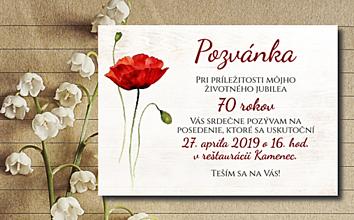 Papiernictvo - Pozvánka - Vlčí mak - 10729619_