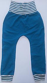 Detské oblečenie - VÝPREDAJ Tepláky organická bavlna - 10728419_