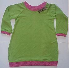 Detské oblečenie - VÝPREDAJ Bambusové šiatky oversize - 10727272_