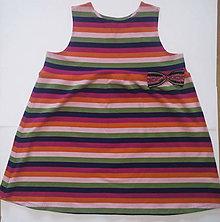 Detské oblečenie - VÝPREDAJ Farebné šaty oversize - 10727290_