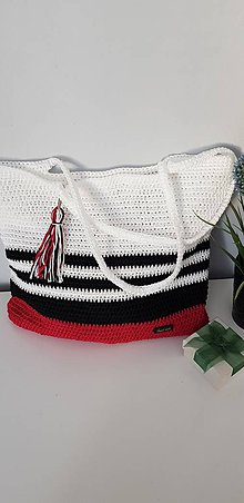 Veľké tašky - Háčkovaná taška - 10729903_
