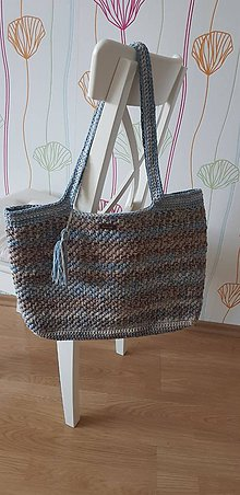 Veľké tašky - Háčkovaná taška - 10729968_