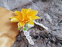 Ozdoby do vlasov - Žltá kráska a paličková čipka - 10728380_