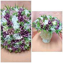 Drobnosti - Saténová kytica tulipánov veľká - 10729221_