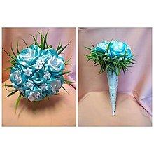 Drobnosti - Saténové kytičky z ruží - 10729365_