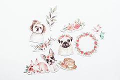 Papier - Akvarelové zvieratká - 10729490_