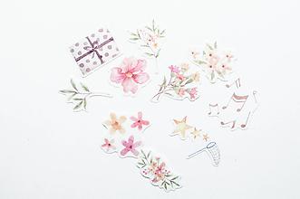 Papier - Akvarelové kvietky - 10729493_