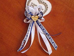 4a729c98ba Pierka - Č. 331 Veľké folklórne pierka pre rodičov s tm. modrým vzorom s