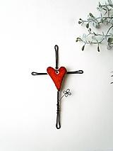 Dekorácie - krížik * 14,5cm (Červená) - 10729584_