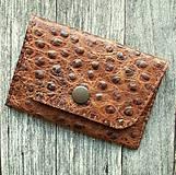 Peňaženky - Malá kožená peněženka/kapsička na doklady - 10730438_