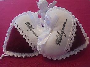 Darčeky pre svadobčanov - Svadobné srdiečka - 10729692_