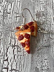 Náušnice - salámová pizza - náušnice - 10727171_