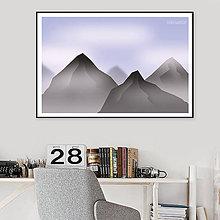 Grafika - Grafika Deň a noc (pohorie cez deň) - 10729685_