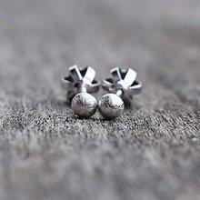 Náušnice - Dots earrings paladium - 10731388_