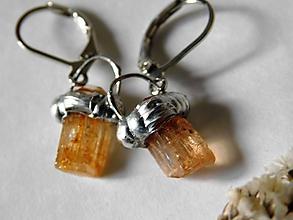 Náušnice - Lampášiky zlatého topázu,tiffany - 10730751_