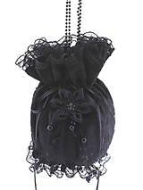 Pompadúrka kabelka čipková, gothic kabelka čierná 55
