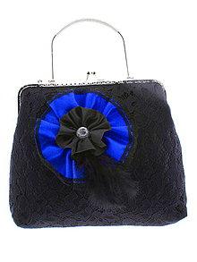 Kabelky - gothic dámská, kabelka spoločenská čipková kabelka čierná 12 (Modrá) - 10733629_