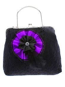 Kabelky - gothic dámská, kabelka spoločenská čipková kabelka čierná 15 - 10733678_