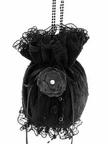 Kabelky - Pompadúrka kabelka čipková, gothic kabelka čierná 11 (Oranžová) - 10733732_