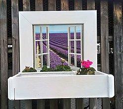 Nádoby - Polička na kvety - 10734040_