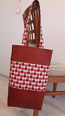 Veľké tašky - červené jablčko -super cena - 10733038_