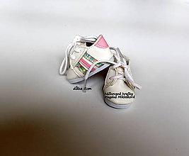 Materiál ručne robený - mini topánky - 10733810_