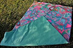 Úžitkový textil - Hodvábna deka Mentol - 10731339_