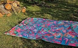 Úžitkový textil - Hodvábna deka Mentol - 10731340_