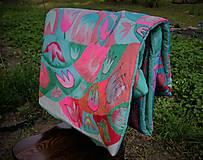 Úžitkový textil - Hodvábna deka Mentol - 10731341_