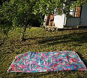 Úžitkový textil - Hodvábna deka Mentol - 10731342_